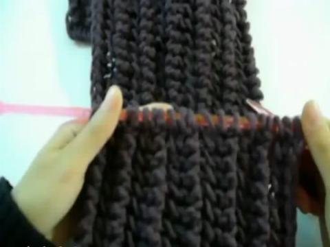 編織圍巾教程 圍巾魚骨針織法