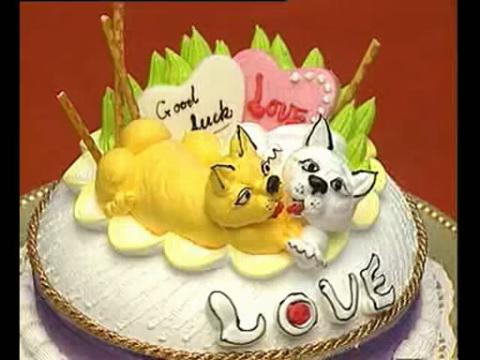 裱花蛋糕的制作 十二生肖蛋糕裱花
